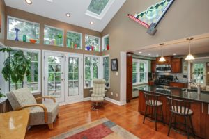 open floor plan, long hill